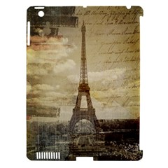 Elegant Vintage Paris Eiffel Tower Art Apple Ipad 3/4 Hardshell Case (compatible With Smart Cover) by chicelegantboutique