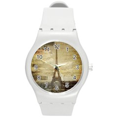 Elegant Vintage Paris Eiffel Tower Art Plastic Sport Watch (medium) by chicelegantboutique