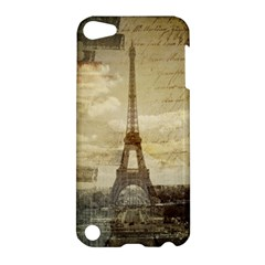Elegant Vintage Paris Eiffel Tower Art Apple Ipod Touch 5 Hardshell Case by chicelegantboutique