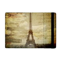 Elegant Vintage Paris Eiffel Tower Art Apple Ipad Mini Flip Case by chicelegantboutique