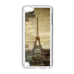 Elegant Vintage Paris Eiffel Tower Art Apple Ipod Touch 5 Case (white) by chicelegantboutique