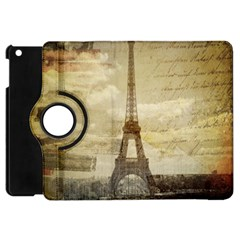 Elegant Vintage Paris Eiffel Tower Art Apple Ipad Mini Flip 360 Case by chicelegantboutique
