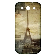 Elegant Vintage Paris Eiffel Tower Art Samsung Galaxy S3 S Iii Classic Hardshell Back Case by chicelegantboutique