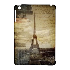 Elegant Vintage Paris Eiffel Tower Art Apple Ipad Mini Hardshell Case (compatible With Smart Cover) by chicelegantboutique