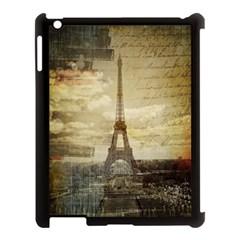 Elegant Vintage Paris Eiffel Tower Art Apple Ipad 3/4 Case (black) by chicelegantboutique