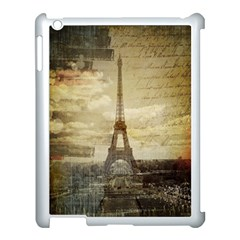 Elegant Vintage Paris Eiffel Tower Art Apple Ipad 3/4 Case (white) by chicelegantboutique