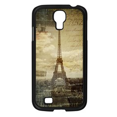 Elegant Vintage Paris Eiffel Tower Art Samsung Galaxy S4 I9500/ I9505 (black) by chicelegantboutique