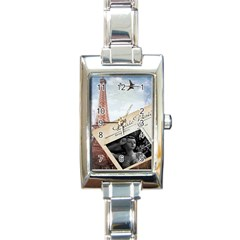 French Postcard Vintage Paris Eiffel Tower Rectangular Italian Charm Watch by chicelegantboutique