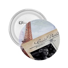 French Postcard Vintage Paris Eiffel Tower 2 25  Button by chicelegantboutique