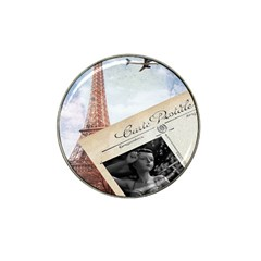 French Postcard Vintage Paris Eiffel Tower Golf Ball Marker (for Hat Clip) by chicelegantboutique