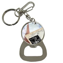 French Postcard Vintage Paris Eiffel Tower Bottle Opener Key Chain by chicelegantboutique