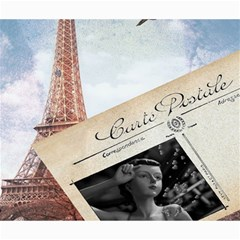 French Postcard Vintage Paris Eiffel Tower Canvas 20  X 24  (unframed) by chicelegantboutique