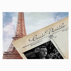 French Postcard Vintage Paris Eiffel Tower Glasses Cloth (large)