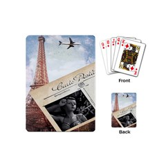 French Postcard Vintage Paris Eiffel Tower Playing Cards (Mini) by chicelegantboutique