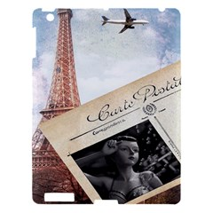 French Postcard Vintage Paris Eiffel Tower Apple Ipad 3/4 Hardshell Case by chicelegantboutique