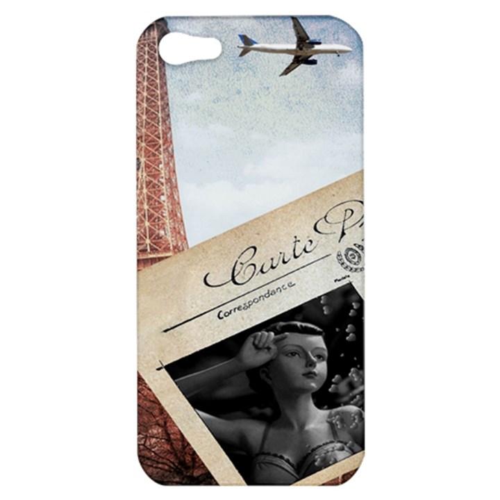 French Postcard Vintage Paris Eiffel Tower Apple iPhone 5 Hardshell Case