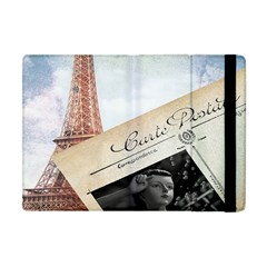 French Postcard Vintage Paris Eiffel Tower Apple Ipad Mini Flip Case by chicelegantboutique