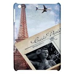 French Postcard Vintage Paris Eiffel Tower Apple Ipad Mini Hardshell Case by chicelegantboutique
