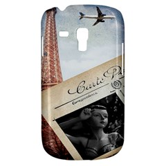 French Postcard Vintage Paris Eiffel Tower Samsung Galaxy S3 Mini I8190 Hardshell Case by chicelegantboutique