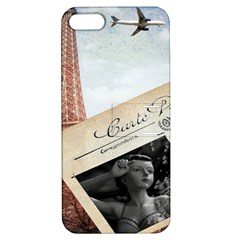 French Postcard Vintage Paris Eiffel Tower Apple Iphone 5 Hardshell Case With Stand by chicelegantboutique