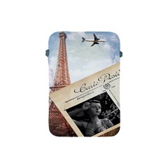 French Postcard Vintage Paris Eiffel Tower Apple Ipad Mini Protective Soft Case by chicelegantboutique