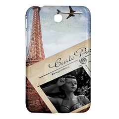 French Postcard Vintage Paris Eiffel Tower Samsung Galaxy Tab 3 (7 ) P3200 Hardshell Case  by chicelegantboutique