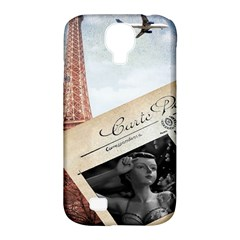 French Postcard Vintage Paris Eiffel Tower Samsung Galaxy S4 Classic Hardshell Case (pc+silicone) by chicelegantboutique