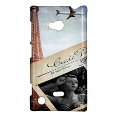 French Postcard Vintage Paris Eiffel Tower Nokia Lumia 720 Hardshell Case by chicelegantboutique