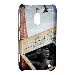 French Postcard Vintage Paris Eiffel Tower Nokia Lumia 620 Hardshell Case by chicelegantboutique