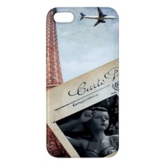 French Postcard Vintage Paris Eiffel Tower Iphone 5s Premium Hardshell Case by chicelegantboutique