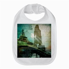 Modern Shopaholic Girl  Paris Eiffel Tower Art  Bib by chicelegantboutique