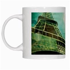 Modern Shopaholic Girl  Paris Eiffel Tower Art  White Coffee Mug by chicelegantboutique