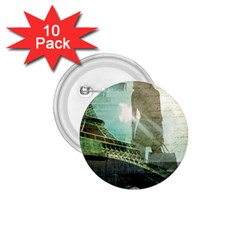 Modern Shopaholic Girl  Paris Eiffel Tower Art  1 75  Button (10 Pack) by chicelegantboutique