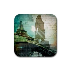 Modern Shopaholic Girl  Paris Eiffel Tower Art  Drink Coasters 4 Pack (square) by chicelegantboutique