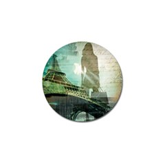 Modern Shopaholic Girl  Paris Eiffel Tower Art  Golf Ball Marker 4 Pack by chicelegantboutique