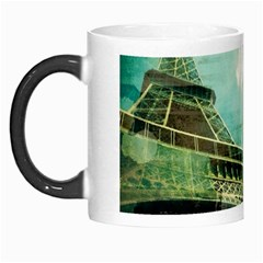 Modern Shopaholic Girl  Paris Eiffel Tower Art  Morph Mug by chicelegantboutique