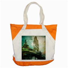 Modern Shopaholic Girl  Paris Eiffel Tower Art  Accent Tote Bag by chicelegantboutique