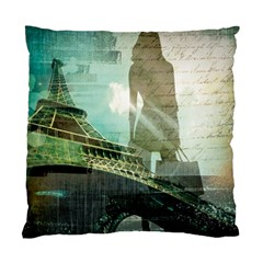 Modern Shopaholic Girl  Paris Eiffel Tower Art  Cushion Case (single Sided)