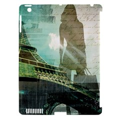 Modern Shopaholic Girl  Paris Eiffel Tower Art  Apple Ipad 3/4 Hardshell Case (compatible With Smart Cover) by chicelegantboutique