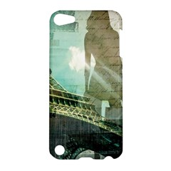 Modern Shopaholic Girl  Paris Eiffel Tower Art  Apple Ipod Touch 5 Hardshell Case by chicelegantboutique