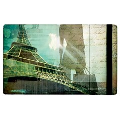 Modern Shopaholic Girl  Paris Eiffel Tower Art  Apple Ipad 2 Flip Case by chicelegantboutique