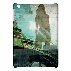 Modern Shopaholic Girl  Paris Eiffel Tower Art  Apple Ipad Mini Hardshell Case by chicelegantboutique