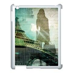 Modern Shopaholic Girl  Paris Eiffel Tower Art  Apple Ipad 3/4 Case (white) by chicelegantboutique