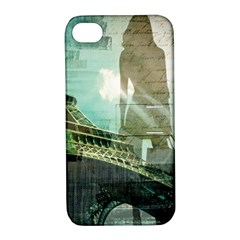 Modern Shopaholic Girl  Paris Eiffel Tower Art  Apple Iphone 4/4s Hardshell Case With Stand by chicelegantboutique