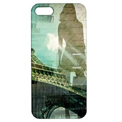 Modern Shopaholic Girl  Paris Eiffel Tower Art  Apple Iphone 5 Hardshell Case With Stand by chicelegantboutique