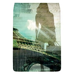 Modern Shopaholic Girl  Paris Eiffel Tower Art  Removable Flap Cover (small) by chicelegantboutique