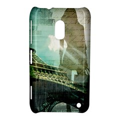 Modern Shopaholic Girl  Paris Eiffel Tower Art  Nokia Lumia 620 Hardshell Case by chicelegantboutique