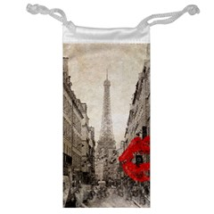 Elegant Red Kiss Love Paris Eiffel Tower Jewelry Bag by chicelegantboutique