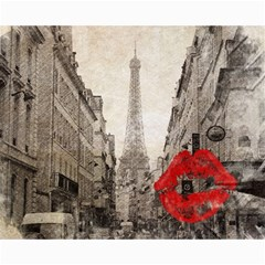 Elegant Red Kiss Love Paris Eiffel Tower Canvas 16  X 20  (unframed) by chicelegantboutique