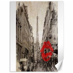 Elegant Red Kiss Love Paris Eiffel Tower Canvas 36  X 48  (unframed) by chicelegantboutique